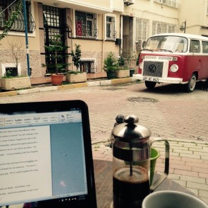 A cafe writing day in Kadıköy.